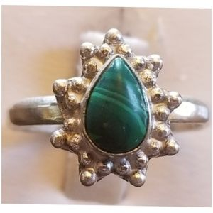 Small Malachite Ring Size 7.5